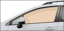 driver side front glass