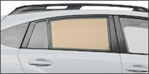 passenger side back glass